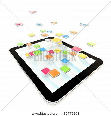 Mobile pad computer with applications