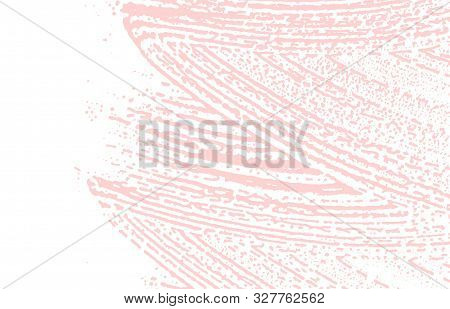 Grunge texture. Distress pink rough trace. Fetching background. Noise dirty grunge texture. Trending artistic surface. Vector illustration. poster