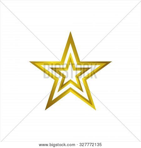Star Gold Icon Vector Logo, Star Concept Logo,  Star Rating And Rank. Star Astrology Symbol.