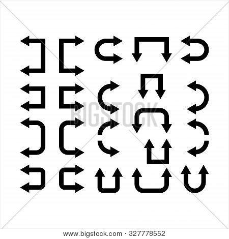 Black Arrow Vector Collection. Modern Simple Arrows.