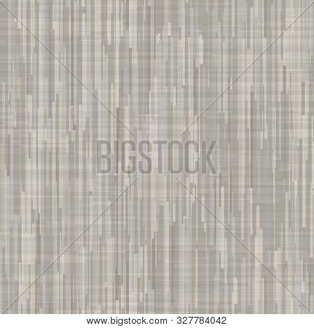 Grey French Linen Textile Fabric Seamless Pattern. Modern Cloth Canvas Lines, Drawn In Brown, Gray,