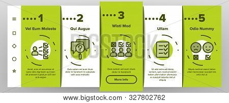 Survey Rating Onboarding Mobile App Page Screen Vector Icons Set Thin Line. Client Survey Opinion Qu