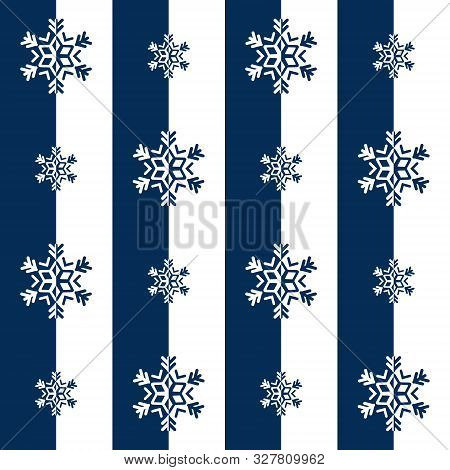 Snowflake, Seamless Vector Illustration With Snowflakes In Two Colors