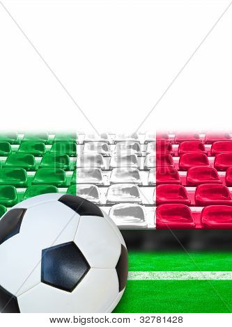 Italy Flag Pattern On Seat