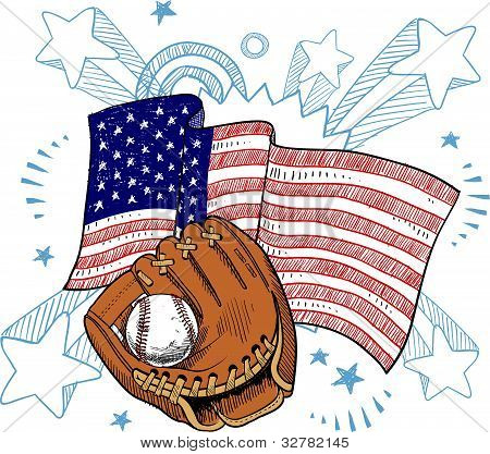 American baseball illustration