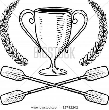 Canoe or boating award sketch