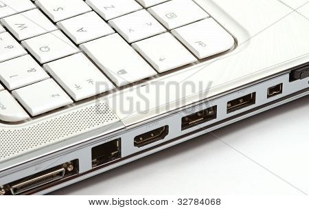 Ports On Side Of Laptop