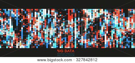 Big Data Colorful Visualization. Futuristic Infographic. Information Aesthetic Design. Visual Dna Da
