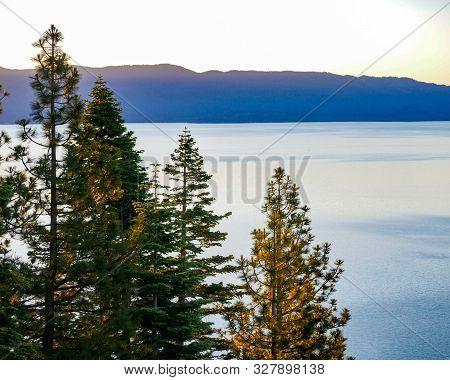 Lake Tahoe Sunrise Color Dl Bliss State Park poster