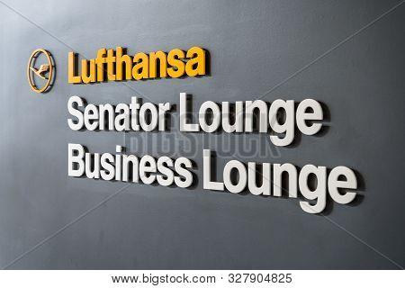 Detroit, Usa - Sep 15, 2019: Lufthansa Senator Or Business Lounge At Detroit Metropolitan Airport, U