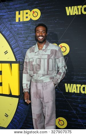 LOS ANGELES - OCT 14:  Yahya Adbul-Meteen II at the HBO's Watchman Premiere Screening at the Cinerama Dome on October 14, 2019 in Los Angeles, CA