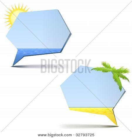 Chat bubbles - summer theme
