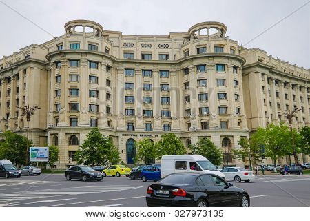 Bucharest, Romania, May 18, 2019: Old Beautiful Buildings In Bucharest.