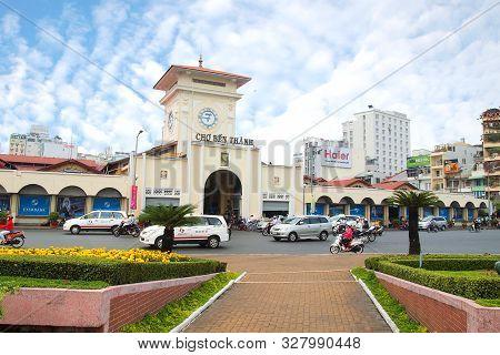 Ho Chi Minh City, Vietnam- March 7, 2013 : Cho Ben Thanh Or Ben Thanh Market In Ho Chi Minh City, Vi