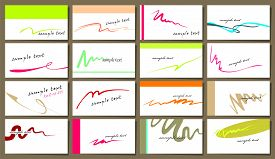 Vector Set Of 16 Business Cards In Minimalism Style On A White.