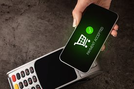 Mobile payment accepted on terminal