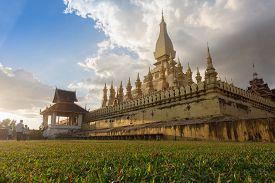 Wat Pha That Luang Temple In Vientiane, Laos.