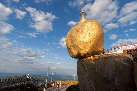 Golden Rock Or Kyai Ktiyo Pagoda,  Myanmar.