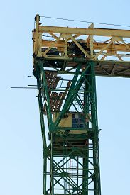 Fragment Of Gantry Crane With Crane Operator's Cabin