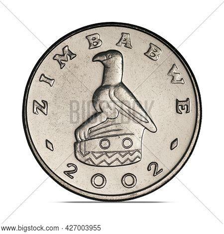 Zimbabwe One Dollar, 2001-2003 On White Background