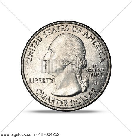 25 Cents 2019 American Memorial Park On White Background