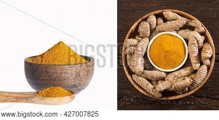 Turmeric Powder And Fresh Turmeric - Curcuma Longa