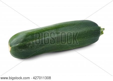 Green And Long Vegetable Marrow Isolated On White.
