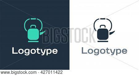 Logotype Kettle With Handle Icon Isolated On White Background. Teapot Icon. Logo Design Template Ele