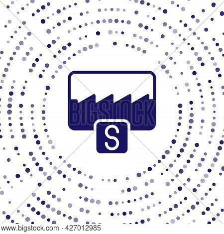 Blue Music Wave Equalizer Icon Isolated On White Background. Sound Wave. Audio Digital Equalizer Tec
