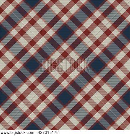 Plaid Pattern Seamless. Check Fabric Texture. Stripe Square Background. Vector Textile Design.