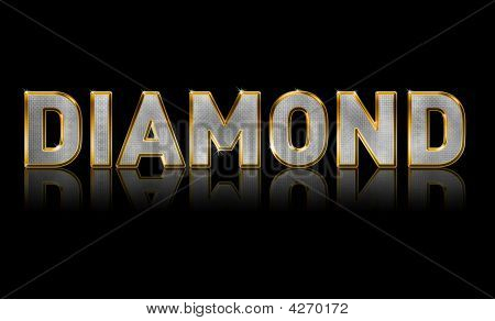 Abstract illustration of Bling Text Diamond Sparkle poster