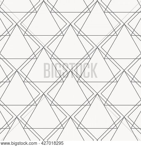 Linear Triangle Vector Pattern With Big And Small Triangle Connected Each.graphic Clean Design For F