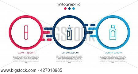 Set Line Nail File, Cream Or Lotion Cosmetic Tube And Spray Can For Hairspray. Business Infographic