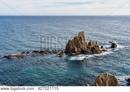 Sirens Reef Located In The Cabo De Gata Nijar Park, Almeria In Spain