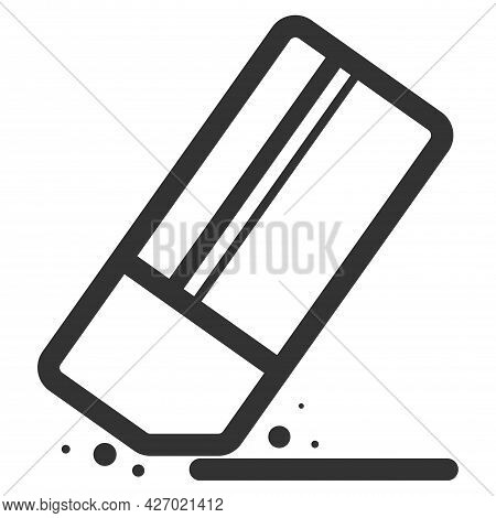 Eraser Icon, Eraser Icon Vector, In Trendy Flat Style Isolated On White Background. Concessionary Go
