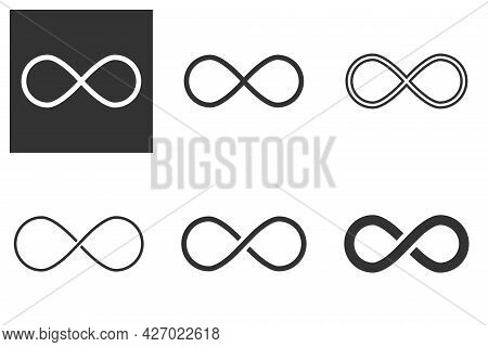 Infinity Sign. Infinity Flat Icon. Mobius Strip. Vector Logo For Web Design, Mobile And Infographics