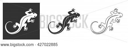 Lizard Logo. Isolated Lizard On White Background. Icon And Symbol Of Reptiles