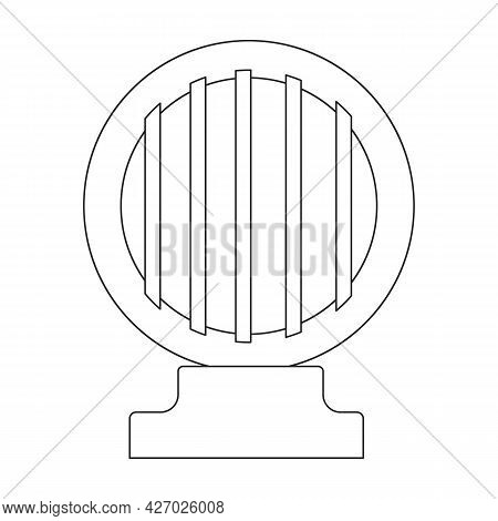 Fountain Water Vector Outline Icon. Vector Illustration Waterfall On White Background. Isolated Outl