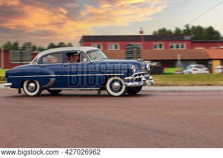 Rattvik, Sweden - July 27.2013: Classic Car Week Rttvik - Chevrolet 210 Sedan, 1954