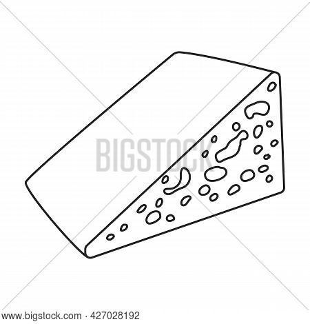 Cheese Vector Icon.outline Vector Icon Isolated On White Background Cheese.