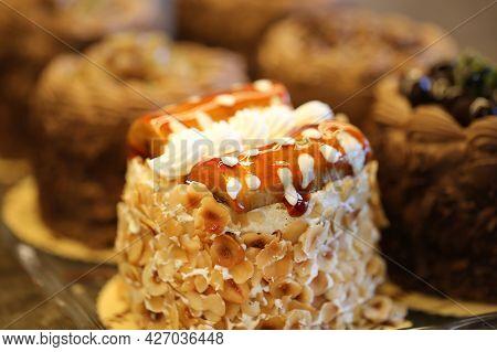 Banana Single Pastry, Floury Products, Bakery And Bakery