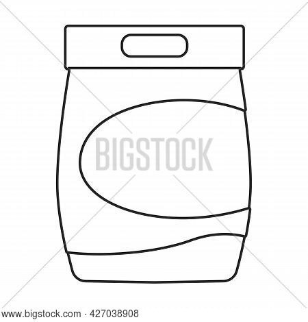 Detergent Vector Outline Icon. Vector Illustration Powder For Laundry On White Background. Isolated