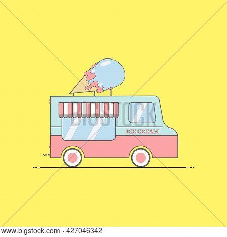 Ice Cream Car Stock