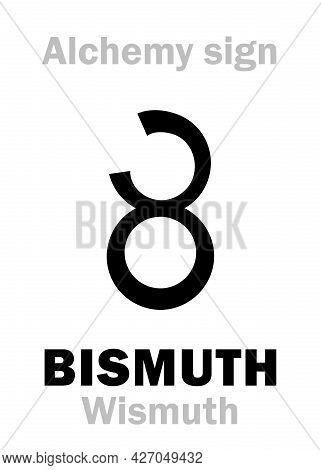 Alchemy Alphabet: Bismuth (bismuthum/bisemutum < German: Wismuth