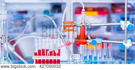 Chemical setup in modern chemical lab