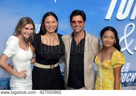 LOS ANGELES - JUL 15:  Cricket Wampler, Tiana Lee, John Stamos, Tisha Custodio at Disney+