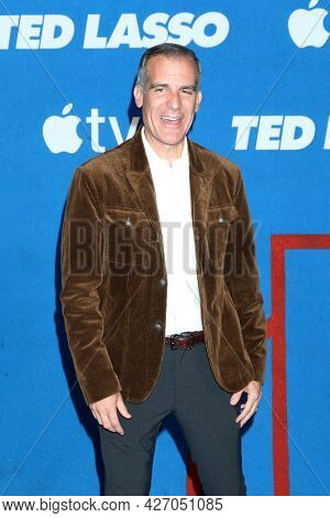 LOS ANGELES - JUL 15:  Eric Garcetti at the Ted Lasso Season 2 Premiere Screening at the Pacific Design Center Rooftop on July 15, 2021 in Los Angeles, CA