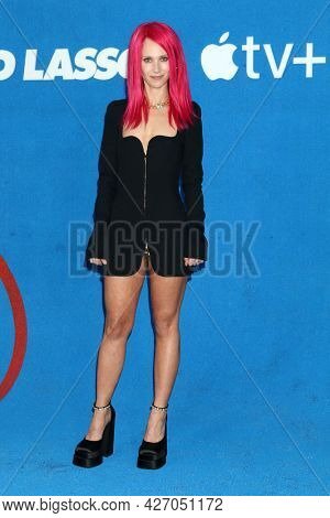LOS ANGELES - JUL 15:  Juno Temple at the Ted Lasso Season 2 Premiere Screening at the Pacific Design Center Rooftop on July 15, 2021 in Los Angeles, CA