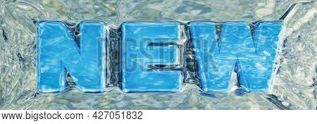 A new lettering flow water. 3D illustration