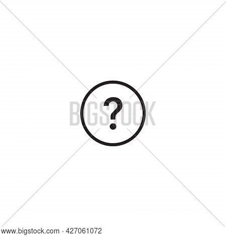 Question Mark Icon Vector In Line Style. Interrogative Symbol Image